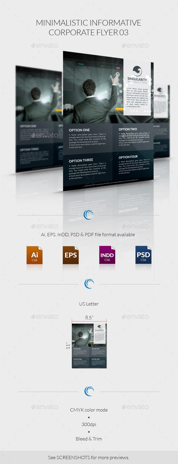 Minimalistic Informative Corporate Flyer 03 - Corporate Flyers