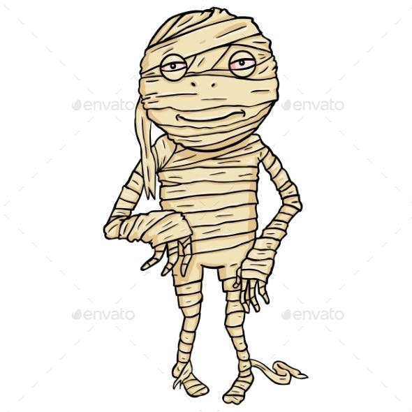 Cartoon Halloween Character - Mummy.