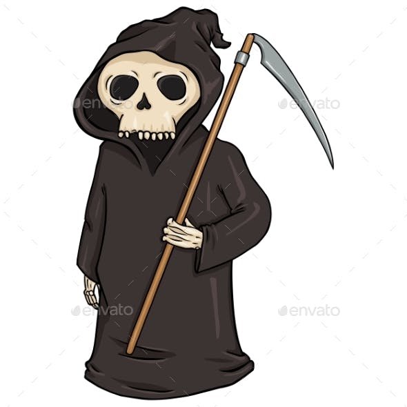 Cartoon Halloween Character - Death