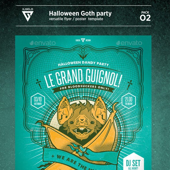 Halloween Goth Party / Poster Pack.02