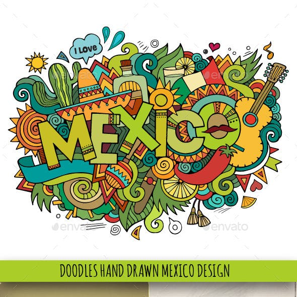 3 Mexico Doodles