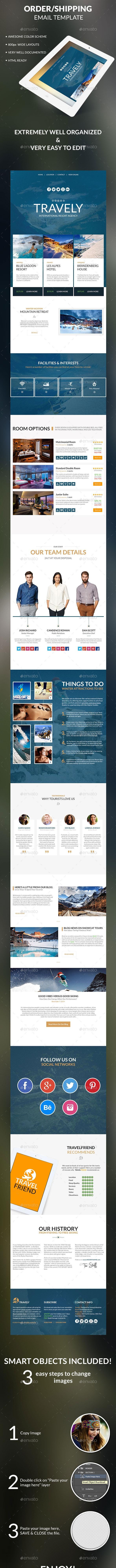 Travely - Travel/Agency/Multipurpose Newsletter - E-newsletters Web Elements