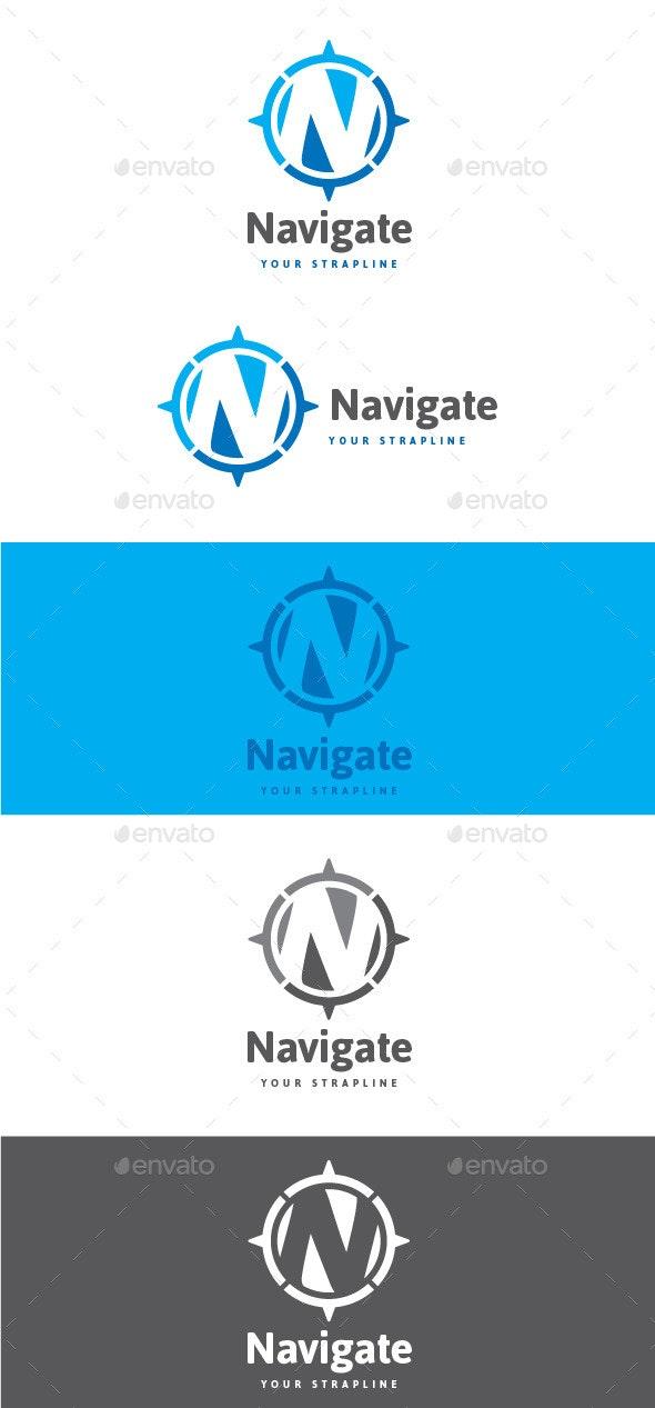 Navigate Letter N Logo - Letters Logo Templates