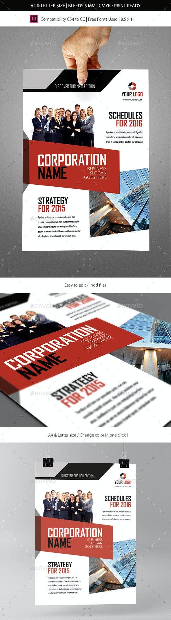Corporate & Business Commerce Flyer Template - Informational Brochures