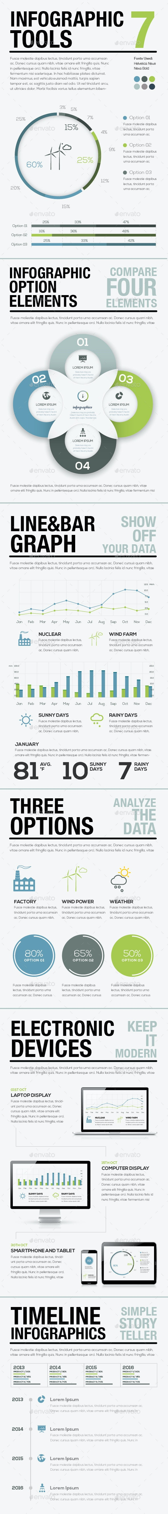 Infographic Tools 7 - Business Vector Elements for - Infographics