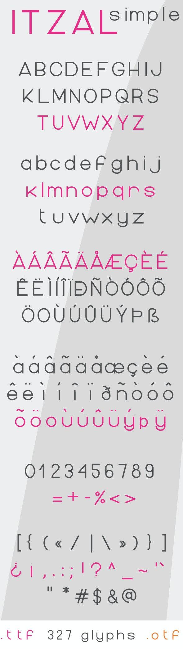 Itzal Simple Regular - Sans-Serif Fonts