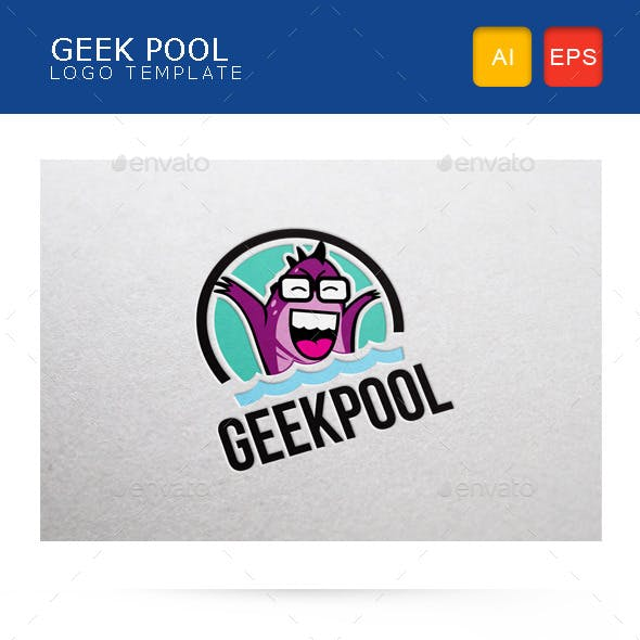 Geek Pool Logo Template
