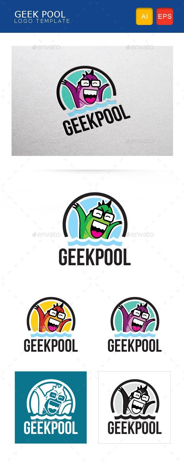 Geek Pool Logo Template - Humans Logo Templates