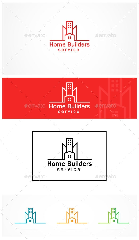 Property Builders - Buildings Logo Templates