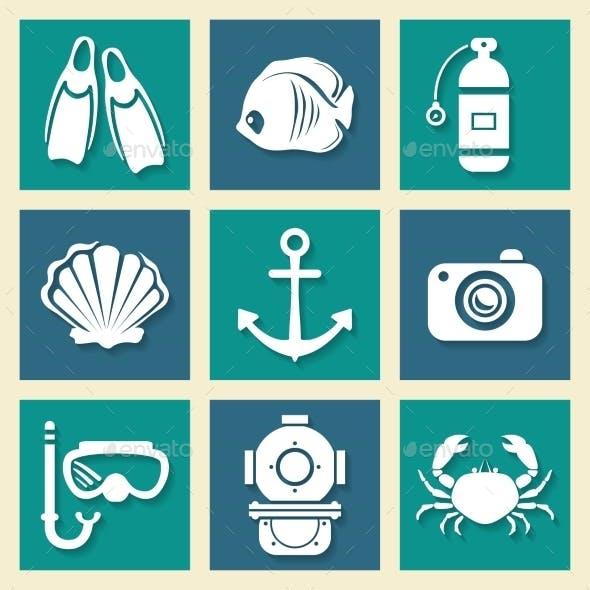 Sea Symbols Icons Set