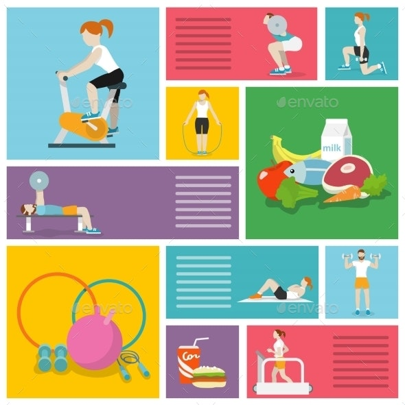 Gym Exercise People - Sports/Activity Conceptual