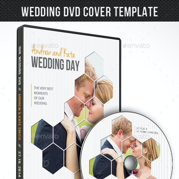 Wedding DVD Cover Template 06