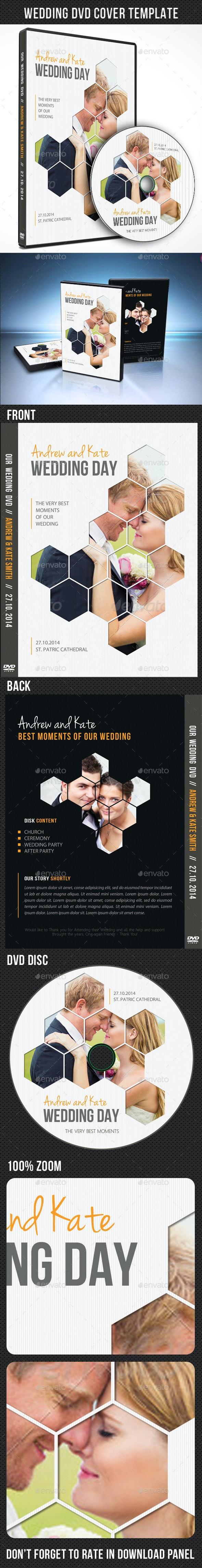 Wedding DVD Cover Template 06 - CD & DVD Artwork Print Templates