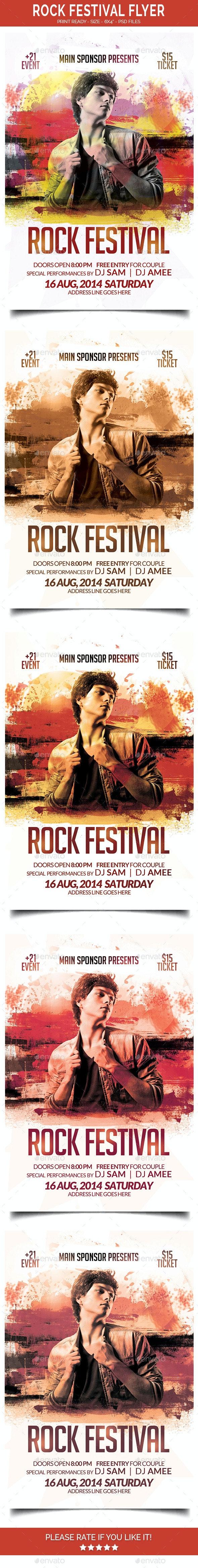Rock Festival Flyer - Events Flyers