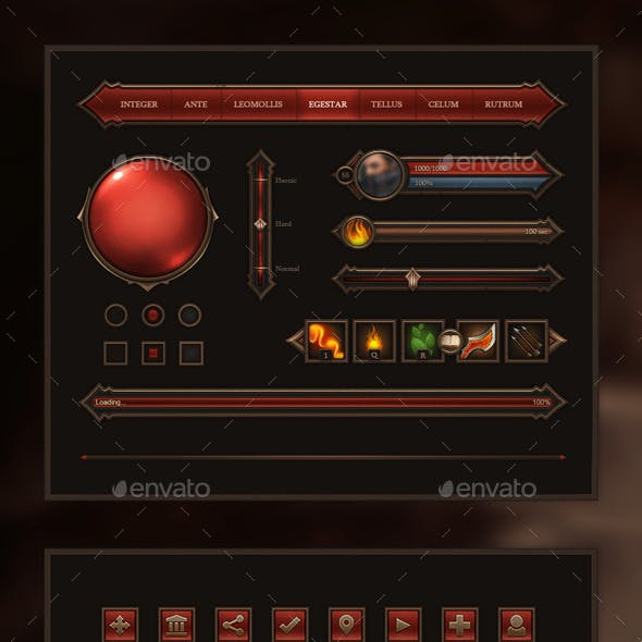 Fantasy Game Interface