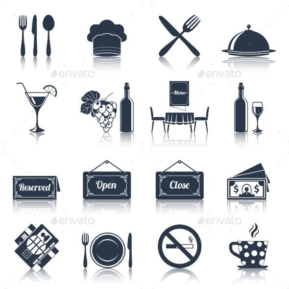 Restaurant Icons Set  - Web Elements Vectors