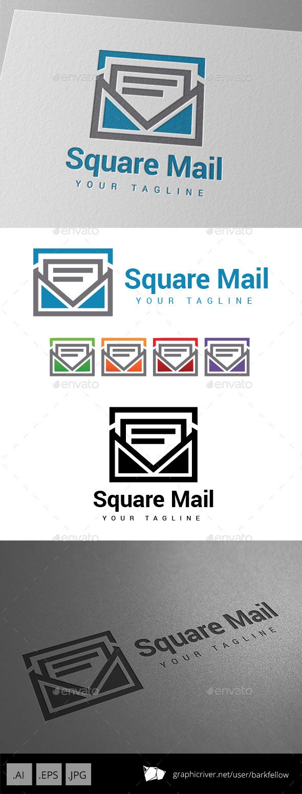 Square Mail Logo - Objects Logo Templates