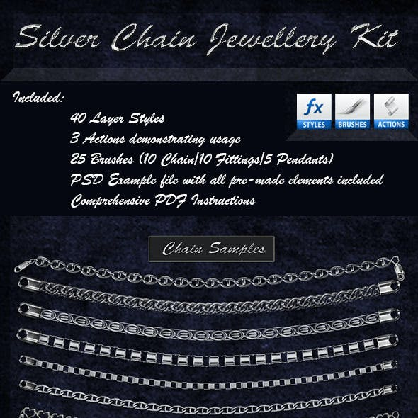 Silver Chain Jewellery Kit