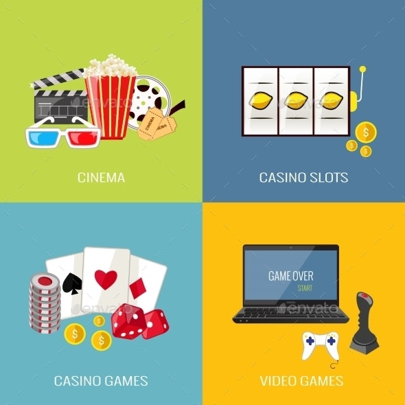 Games Flat Set - Concepts Business