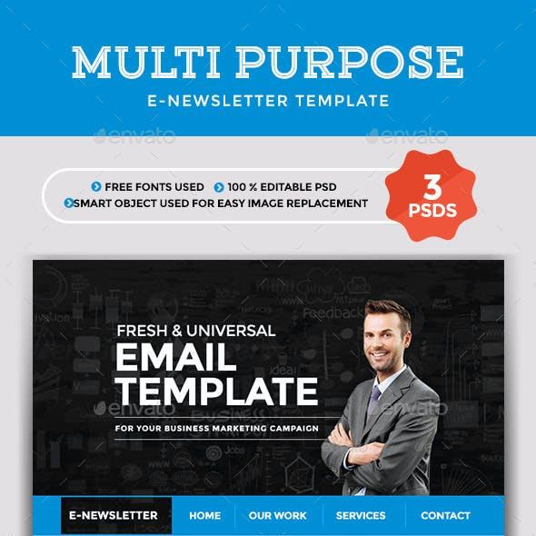 Multi Purpose Newsletter Template - 3 designs