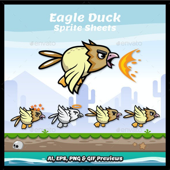 Eagle Duck Sprite Sheets