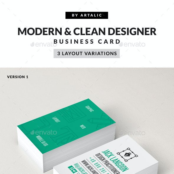 Creative & Modern Iconic Business Card