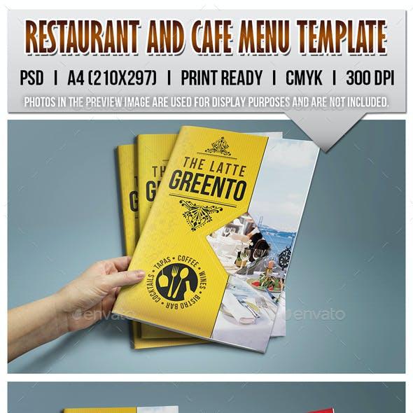 Restaurant and Cafe Menu Template