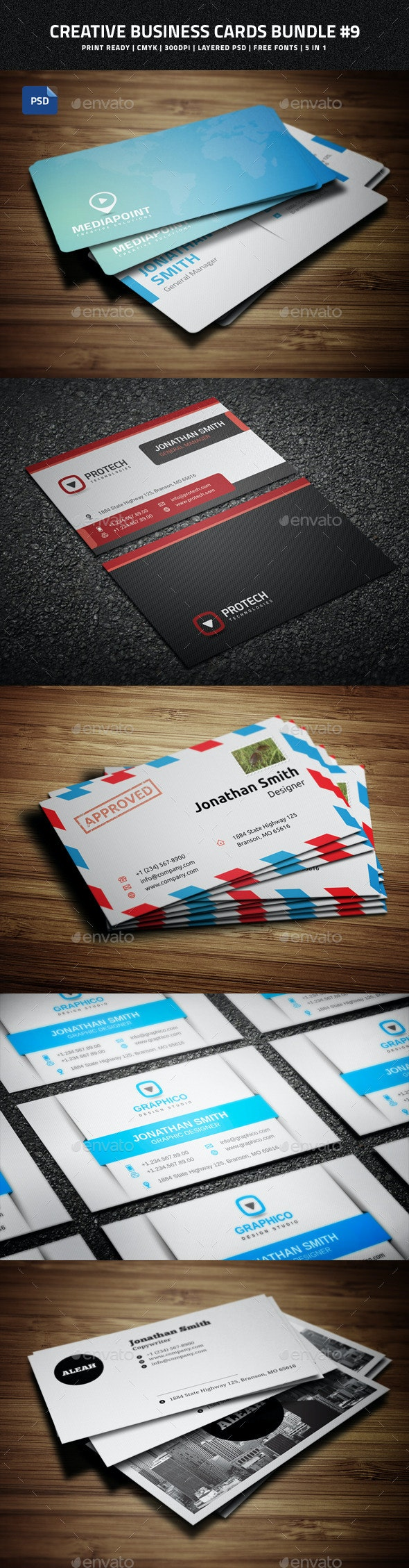 Creative Business Cards Bundle #9 - Creative Business Cards
