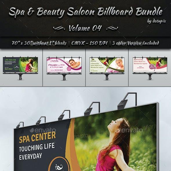 Spa & Beauty Saloon Billboard Bundle | Volume 4