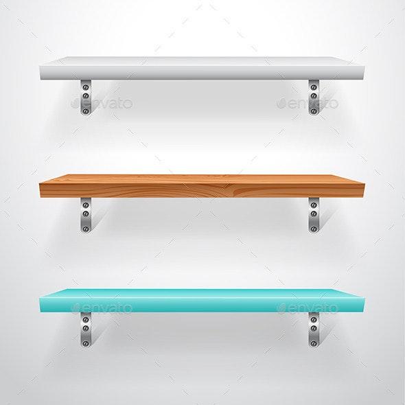 Shelfs - Objects Vectors