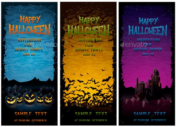 Halloween Party Invitations  - Halloween Seasons/Holidays