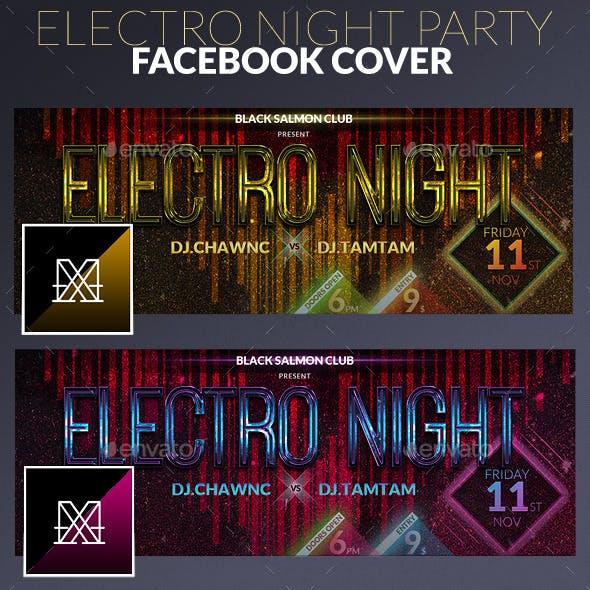Electro Night Facebook Cover
