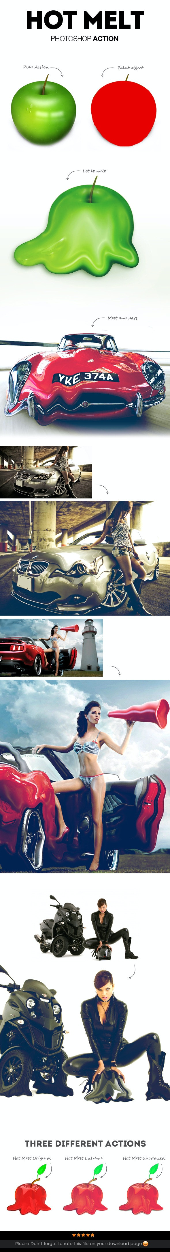 Hot Melt Photoshop Action - Photo Effects Actions