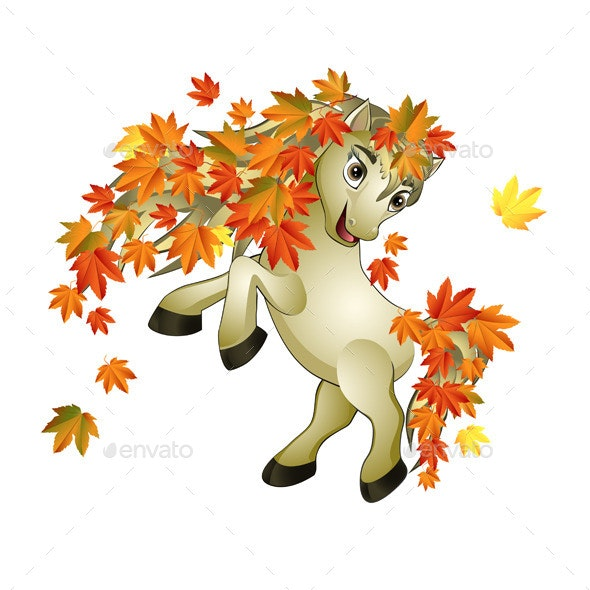 Horse Autumn - Animals Characters