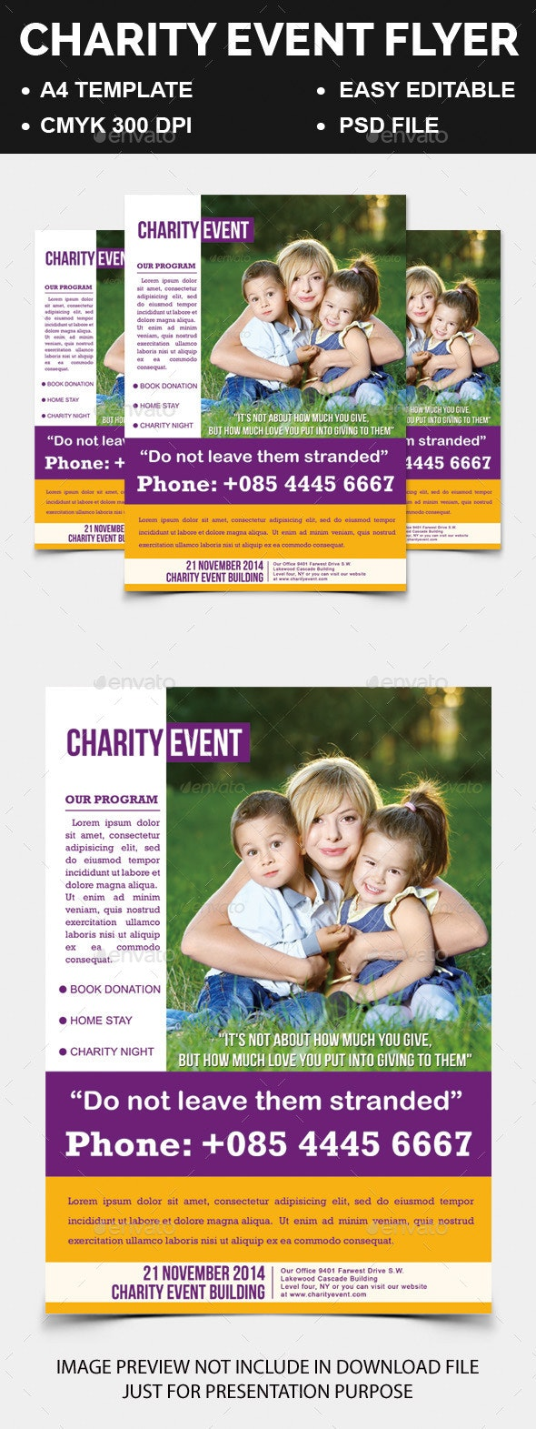Charity Event Flyer - Corporate Flyers