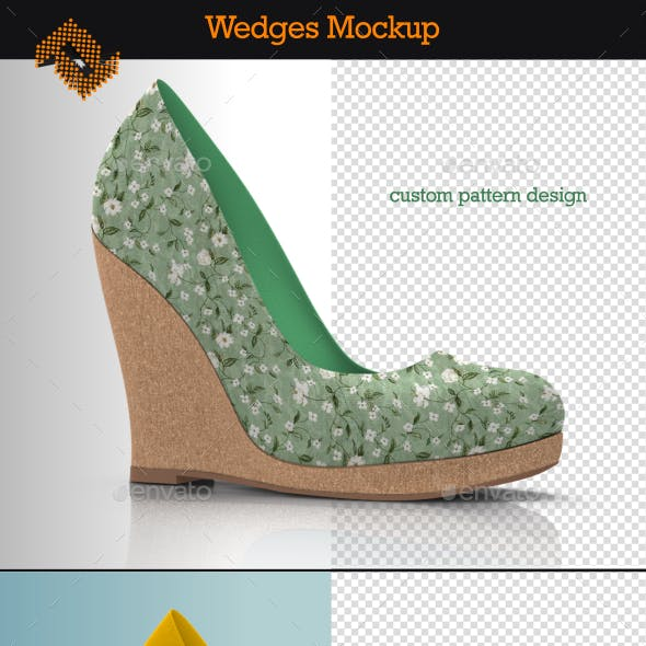 Wedges / Women's Wedge Boots Mockup