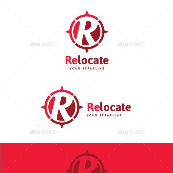 Relocate Letter R Logo