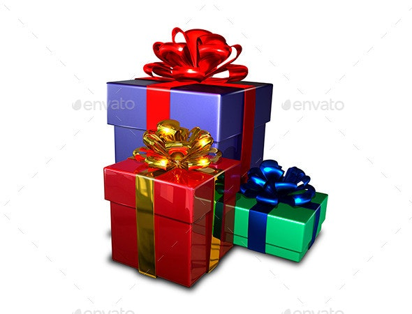 Gifts    - Objects 3D Renders