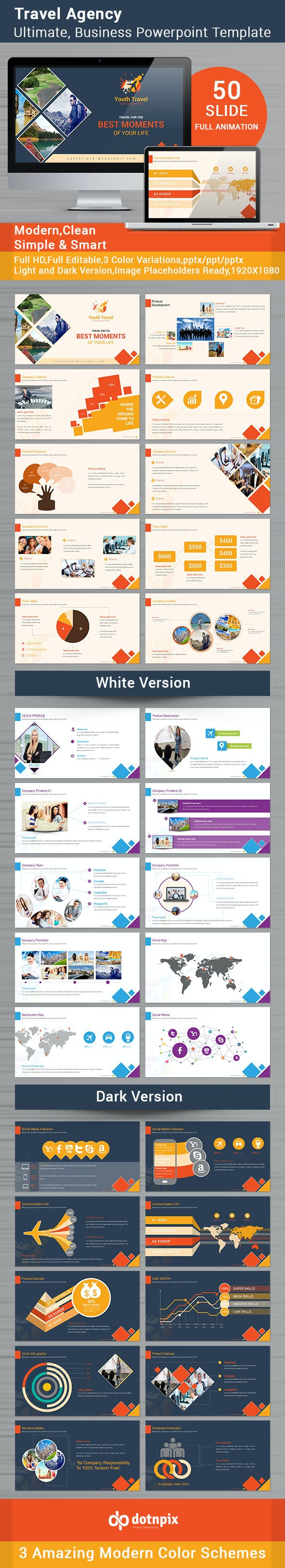 Travel Agency Powerpoint Template - Business PowerPoint Templates