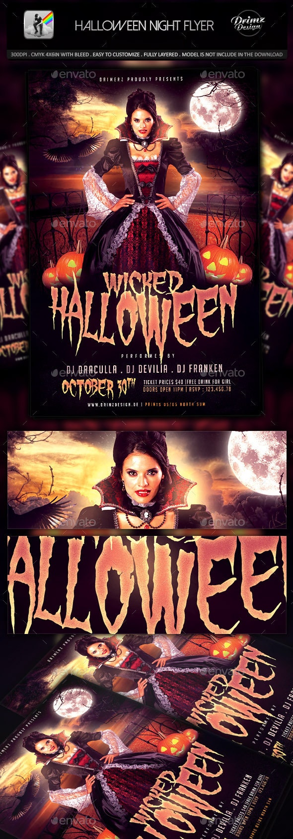 The Halloween Flyer - Events Flyers