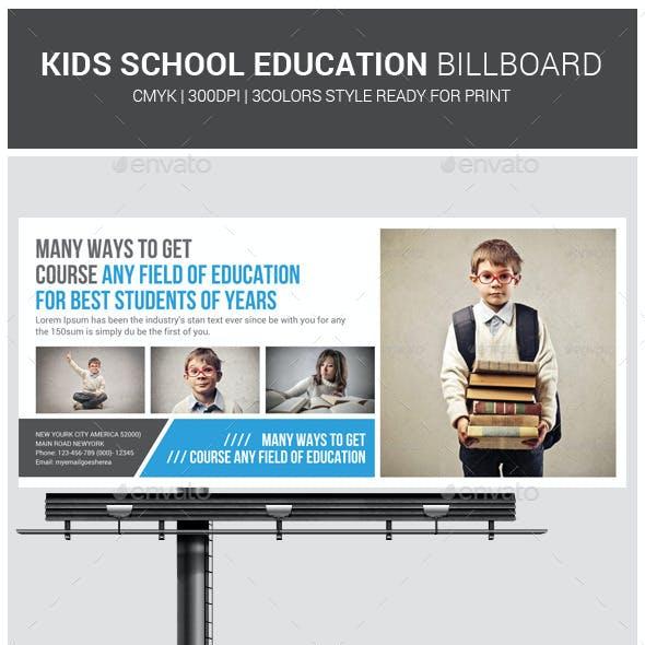 Kids School Education Billboard Template