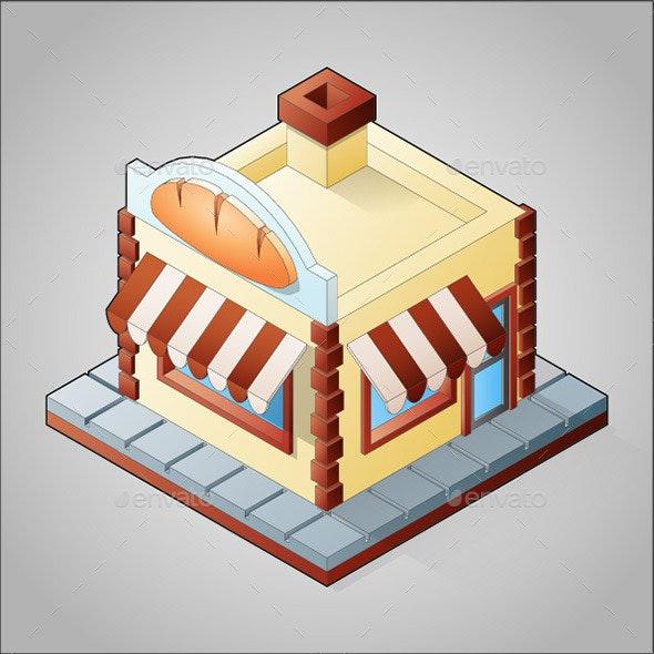 Isometric Bakery - Buildings Objects