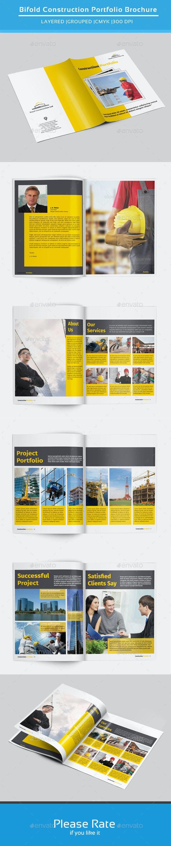Bifold Brochure for Construction-V141 - Corporate Brochures