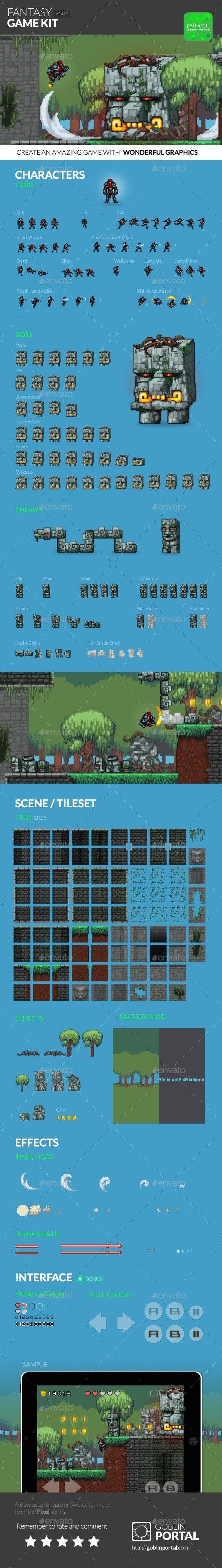 Fantasy Sidescroller Game Kit - Game Kits Game Assets