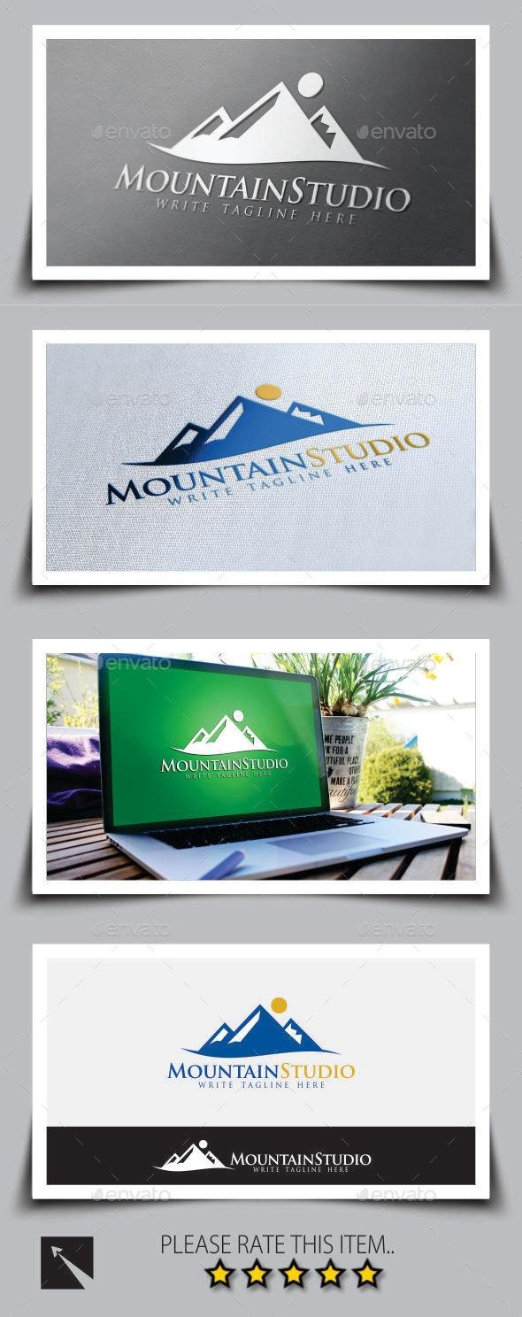 Mountain Studio Logo Template - Nature Logo Templates