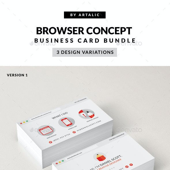 Web Browser Business Card 3-in-1 Bundle
