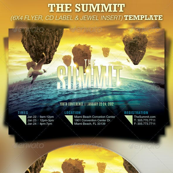 The Summit Church Flyer and CD Template