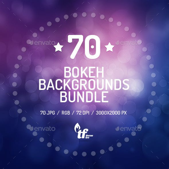 70 Bokeh Backgrounds Bundle