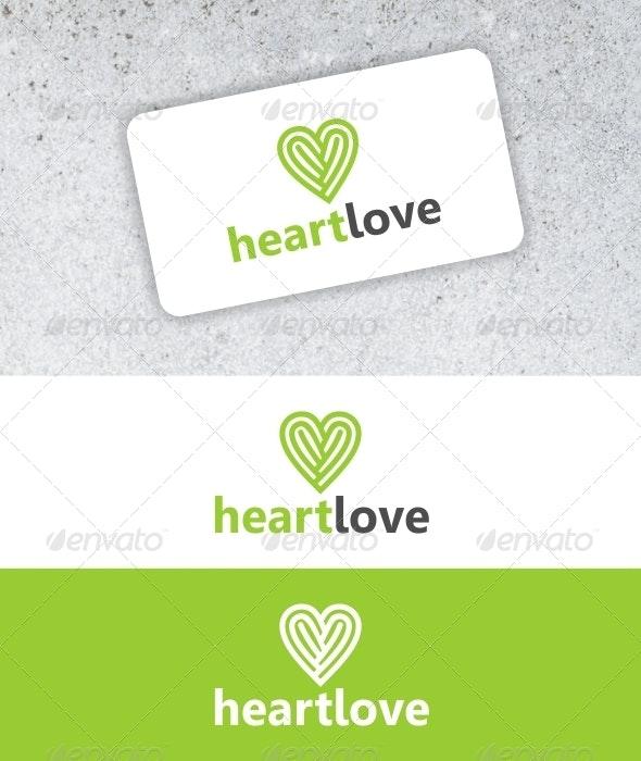 Heartlove logo - Vector Abstract