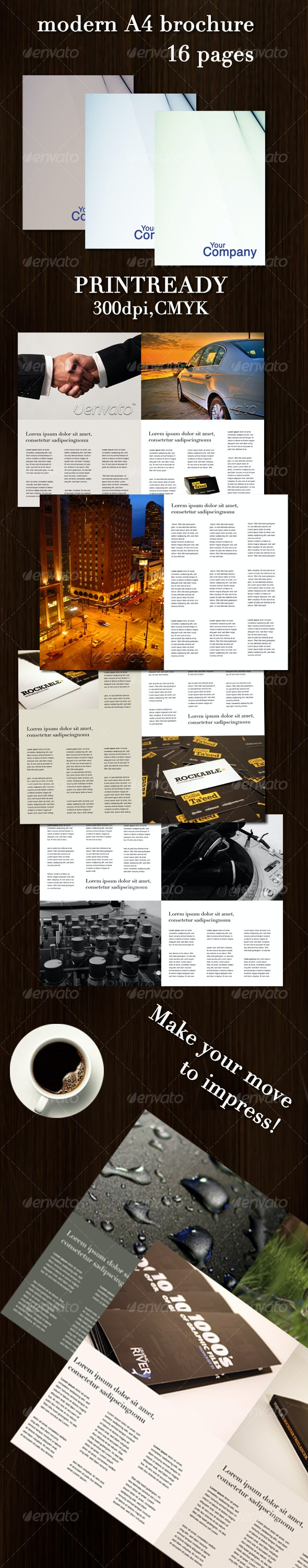 16 page A4 modern brochure - Corporate Brochures